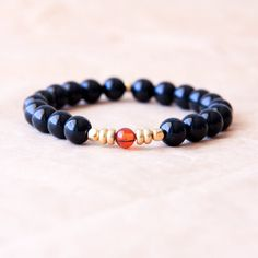 Mala Beads Prayer Beads Black Tourmaline Bracelet by MishkaSamuel