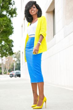 Style Pantry | Grandpa Cardigan + Tank + Ribbed Pencil Skirt More