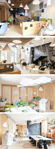 The interior designers at 28 Form, have completed the design of a café in Wroclaw, Poland, designed specifically with parents and children in mind.: