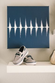 Heartbeat wall art - such a sweet touch in a nursery!