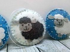 Fieltro Navidad ovejas Adorno ornamento de la Navidad de