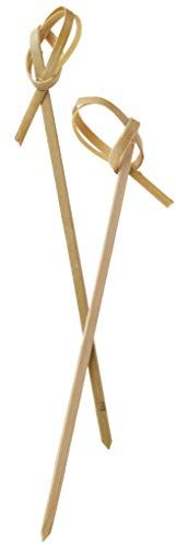 """Perfectware - BambooKnot4-300ct Bamboo Knot 4-300ct 4"""" Bamboo Knot Picks (Pack of 300) Perfectware Starting A Food Truck, Cocktail Garnish, Party Catering, Kabobs, Bamboo, Packing, Knot, Backyard Parties, Hard Pressed"""