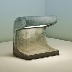 bauhaus-movement:Le Corbusier Exterior light from Chandigarh. Concrete Furniture, Concrete Projects, Art Furniture, Le Corbusier, Concrete Light, Concrete Lamp, Precast Concrete, Beton Design, Concrete Design