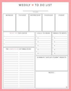 Work Day Organizer  Planner Page Work Planner Printable Planner