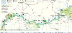 Map of Arkansas's Buffalo River Canoe Camping, Canoe Trip, Canoe And Kayak, Ponca Arkansas, River Trail, Kayaking, Canoeing, Trail Maps, Buffalo
