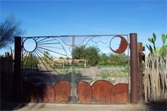 gate to the garden at the inn.