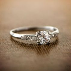 Wow! A Rare and Stunning Art Deco Solitaire Engagement Ring. An amazing rare 1930's piece of jewelry!