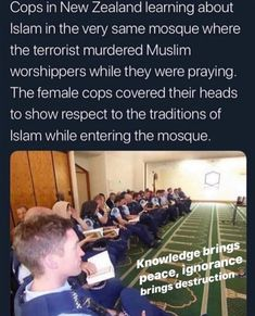 NZ cops learn about Islam. Learn Islam, Faith In Humanity Restored, Sweet Stories, The More You Know, Social Justice, Good People, Equality, Feel Good, Things To Think About