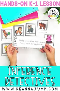 Work on kindergarten reading comprehension with this fun inferencing activity. Students will become inference detectives, and use inferencing skills to solve a mystery!