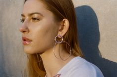 Maria Francesca Pepe SS17 'CANDY BLUSH' HOOPS WITH CHARMS Blush Color, Charms, Hoop Earrings, Feminine, Candy, Learning, How To Make, Pink, Jewelry