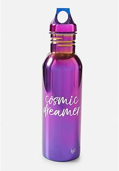 Justice is your one-stop-shop for on-trend styles in tween girls clothing & accessories. Shop our Cosmic Dreamer Water Bottle . School Accessories, Girls Accessories, Cute Water Bottles, Drink Bottles, Good Vibes Pillow, Justice Girls Clothes, Galaxy Flowers, Bottle Cutting, Girl Bedroom Designs