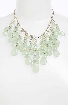 Stephan & Co. Teardrop Cluster Statement Necklace available at #Nordstrom