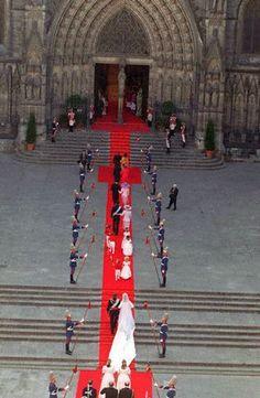 Wedding of Infanta Cristina, Duchess of Palma de Mallorca, with handball player Inaki Urdangarin, in Barcelona.