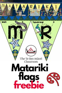 M A T A R I K I       2019 Celebrate Matariki with these freebie flags. Great for school, home or office :-)