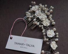 Grecian diadema diadema floral de cristal diadema de perla