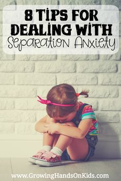 8 tips for dealing with separation anxiety from a mom with a daughter with sensory processing disorder (SPD).