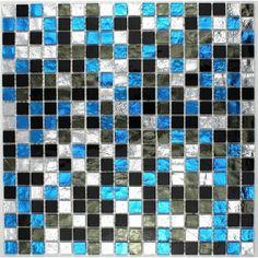 Galet Sol Et Mur Pour Douche Et Salle De Bain Hima Mosaique Bleu Pinterest