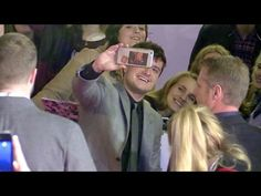 Josh Hutcherson at the Premiere of the new Hunger Games, Mockingjay Part 2 in Paris - YouTube
