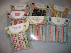 Packaging idea for an individual rice krispie or cookie treat. Crafts To Sell, Fun Crafts, Crafts For Kids, Paper Crafts, Craft Gifts, Diy Gifts, Handmade Gifts, Decorated Clothes Pins, Clothespin Art