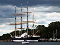 """Passat is a German four-masted steel barque and one of the Flying P-Liners, the famous sailing ships of the German shipping company F. Laeisz. The name """"Passat"""" means trade wind in German. She is one of the last surviving windjammers."""