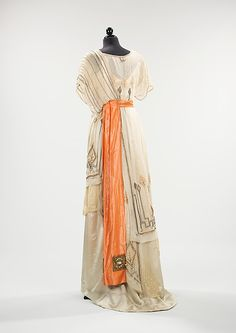 Evening dress Date: 1911–13 Culture: American Medium: silk. Back