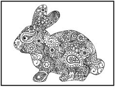 bunny bunny coloring pagesfree