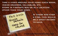 video of belongings in case of fire or flood