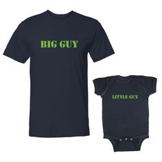Big Guy & Little Guy Adult T-Shirt & Baby Bodysuit Set (6 Months Bodysuit, Adult T-Shirt Medium, Navy) We Match!,http://www.amazon.com/dp/B00KHF0NPU/ref=cm_sw_r_pi_dp_9FwFtb1AVBJXZJAY