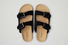 AEO Double Buckle Sandals  by  American Eagle Outfitters | Walk on.  Shop the AEO Double Buckle Sandals  and check out more at AE.com.