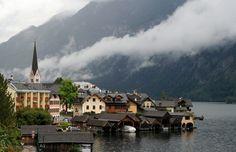 Rainy day in Hallstatt - Austria, August 2014.