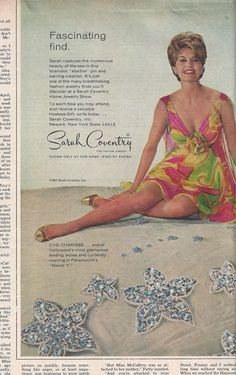 1967 Sarah Coventry Starfire Ad from McCall's by VictorianWardrobe, $3.00