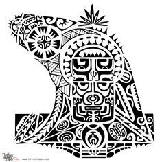 """Enata The main elements of this tattoo strongly inspired to the Marquesan style are two tikis, one above the other, in the middle of the arm; they represent protection, fertility and ancestors and give the name to this tattoo requested by Darek (enata means """"person""""). The higher one is surrounded by a sun to symbolize success and it is shaped by a stylization of the path of [...]"""