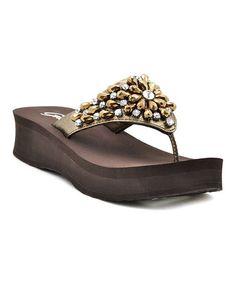 This Bronze Kobe Sandal by Grazie is perfect! #zulilyfinds