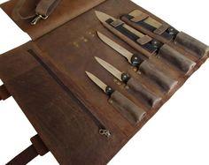 Sac en cuir robuste pour rouleau de couteau de Chef et cas