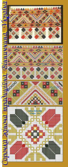 Нарукавна вишивка жіночої сорочки з Вінниччини, Східне Поділля, Україна