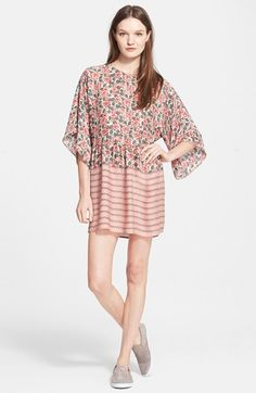 The Great 'The Julep' Mix Print Silk Shift Dress available at #Nordstrom