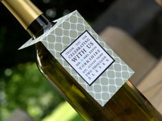 We love these beutiful wine tags for thanking guests and sponsors!