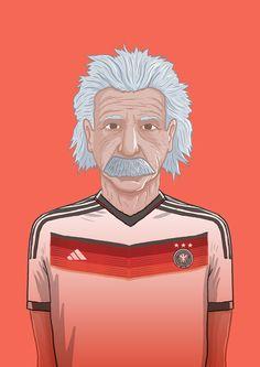 Einstein, from the series 'National Heroes' by danleydon Print Shop / Twitter