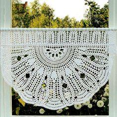 Crocheted Curtain Buzina by majontak on Etsy, $100.00