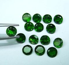 Diopside 110794: Natural Chrome Diopside 6Mm Round Cut Calibrated Size Green Color Loose Gemstone -> BUY IT NOW ONLY: $42.99 on eBay!