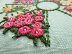 Raised cup stitch on my garden sampler (by fatquarter (Annet))