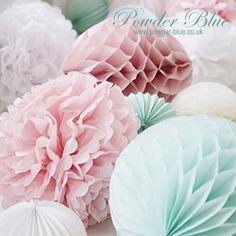 powder blue pom poms