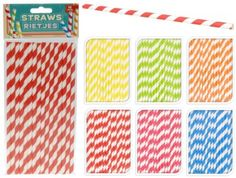 Pack-of-16-Stripy-Cocktail-Drinking-Party-Picnic-Straw-Coloured-Straws