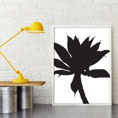 Silhouetted Wall Art Print