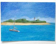 Original Art ACEO Low Island Queensland Australia by SamsArtyStuff, £7.50