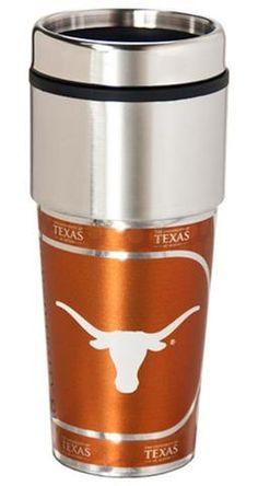 Texas Longhorns 16 ounce Travel Tumbler with Metallic Graphics #TexasLonghorns