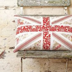 got to make this pillow! - Maybe use red, white, and blue to make it look like the British Union Jack.