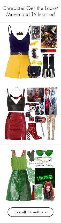 """Character Get the Looks/ Movie and TV Inspired"" by ghkbarbie ❤ liked on Polyvore featuring Giambattista Valli, Doublju, Fendi, Gucci, Chanel, Ray-Ban, Bijoux de Famille, modern, T By Alexander Wang and Boohoo"