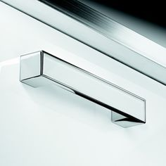 Furniture Handle, White & Polished Chrome, Glass & Zinc - in the Häfele America Shop
