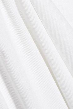 A.P.C. Atelier de Production et de Création - Marthe Ribbed Modal And Cotton-blend Jersey T-shirt - White